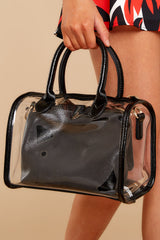 The New Policy Black Clear Bag
