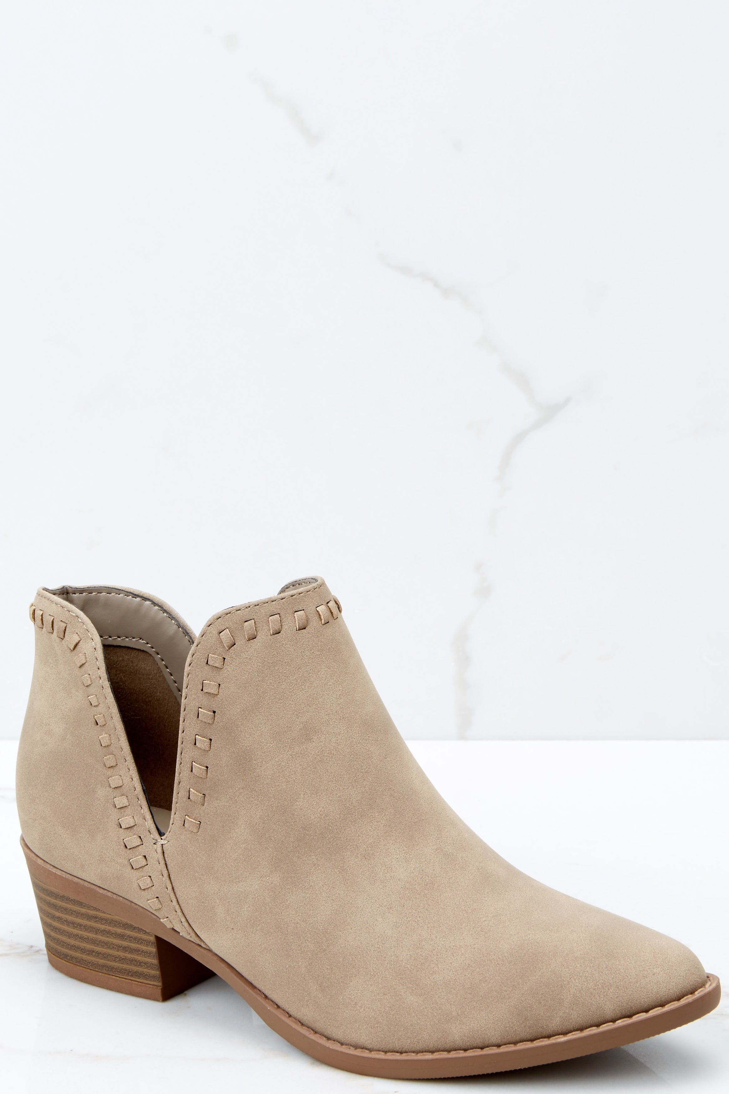 8ebfe7b145f0 Taupe Ankle Booties - Ankle Booties - Booties -  36.00 – Red Dress