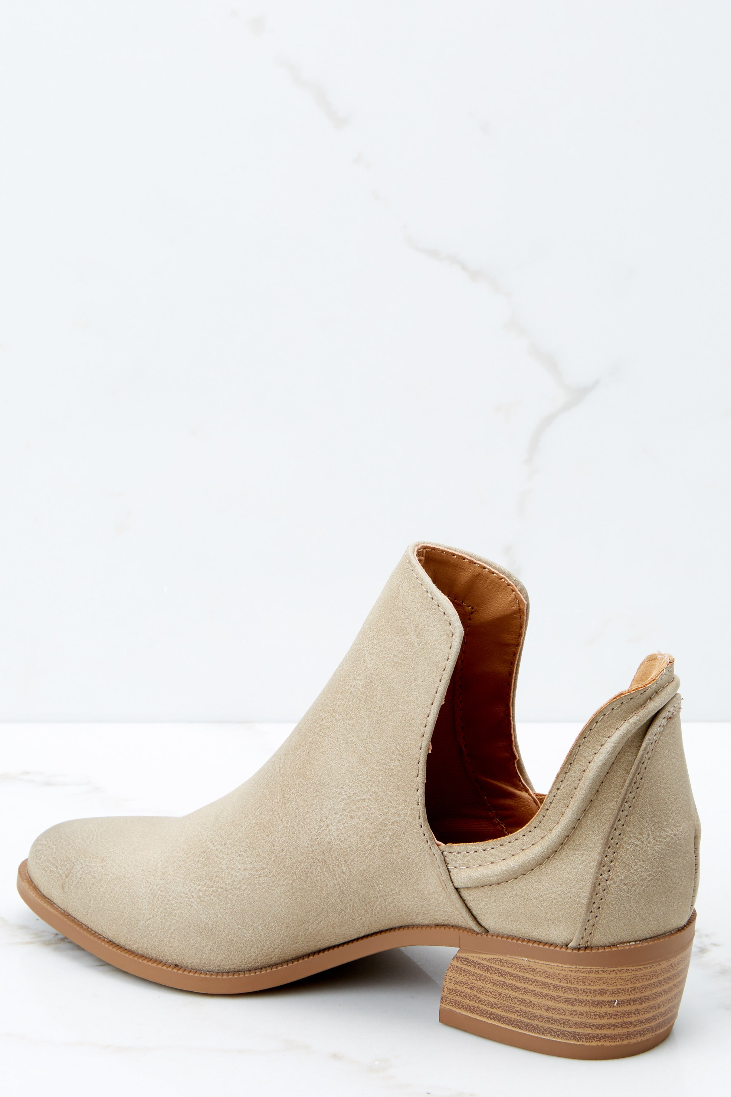 3 Came And Conquered Taupe Ankle Booties at reddressboutique.com