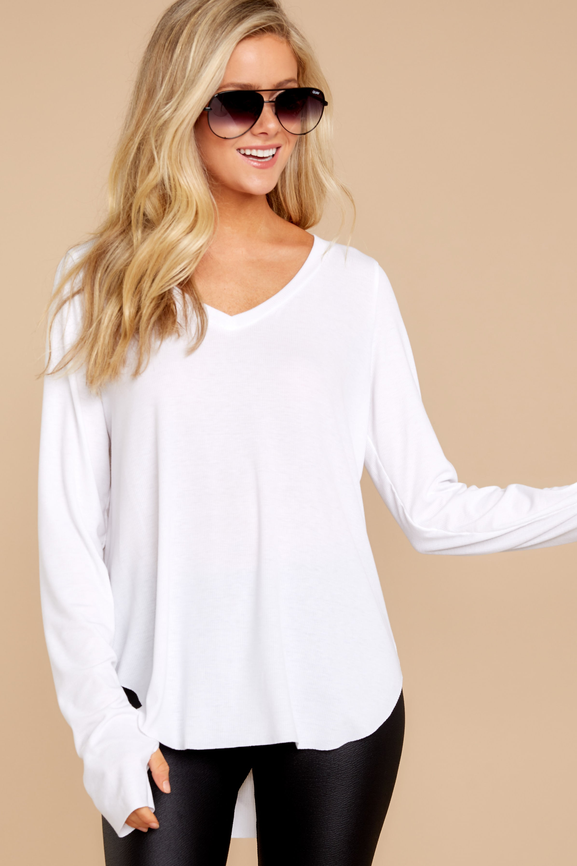 2 Casual For The Day White Top at reddressboutique.com