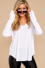 3 Casual For The Day White Top at reddressboutique.com
