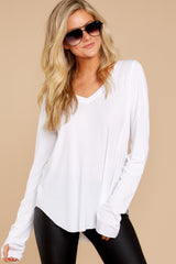 4 Casual For The Day White Top at reddressboutique.com