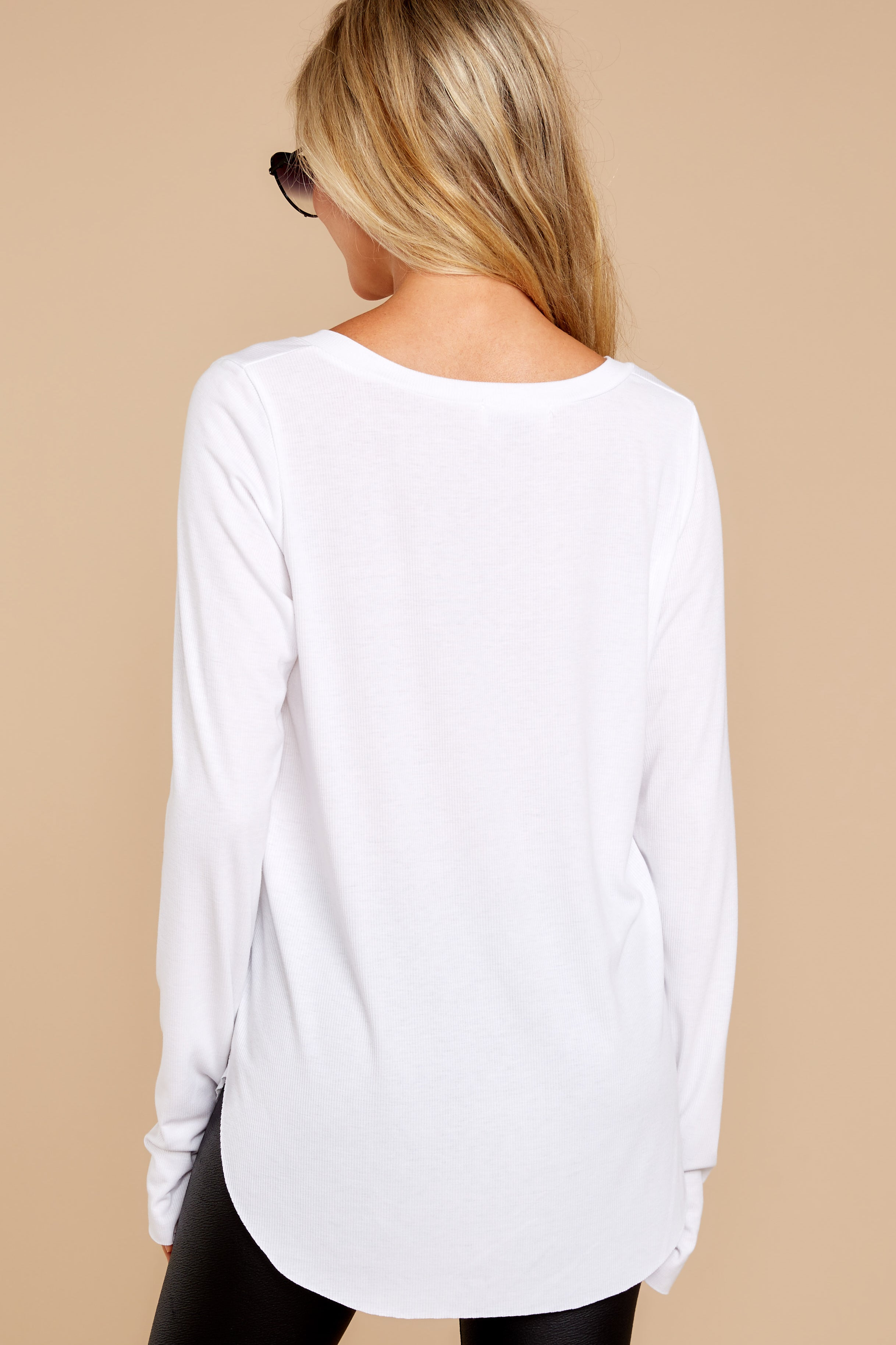 5 Casual For The Day White Top at reddressboutique.com