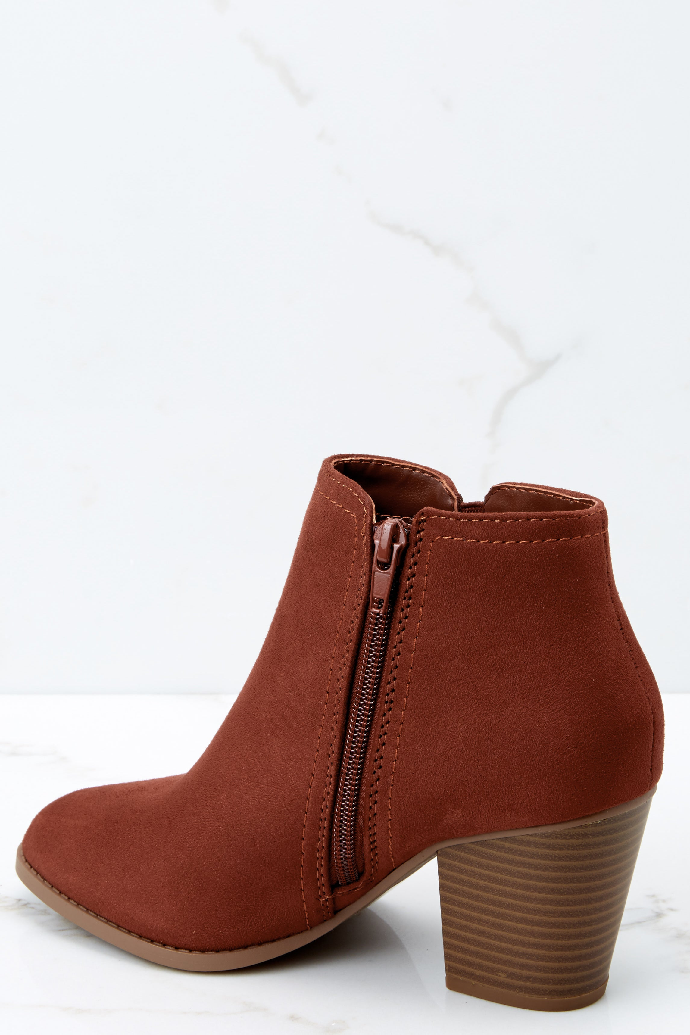 1 Time Won't Stop Rust Ankle Booties at reddressboutique.com