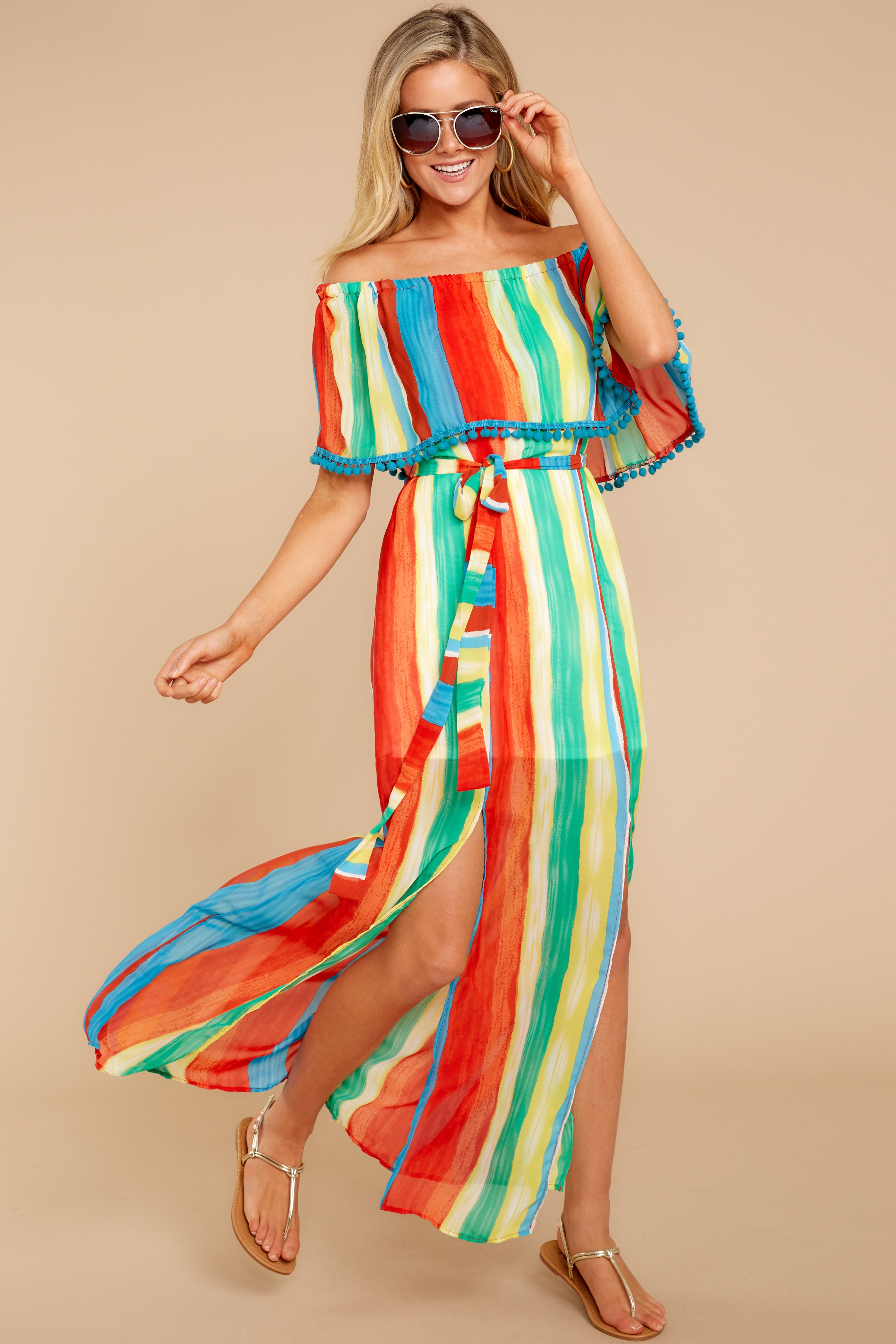 7 Everyday Vacay Maxi Dress In Island Time at reddressboutique.com