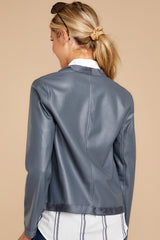 5 Same To You Dark Grey Reversible Jacket at reddressboutique.com