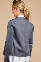 8 Same To You Dark Grey Reversible Jacket at reddressboutique.com