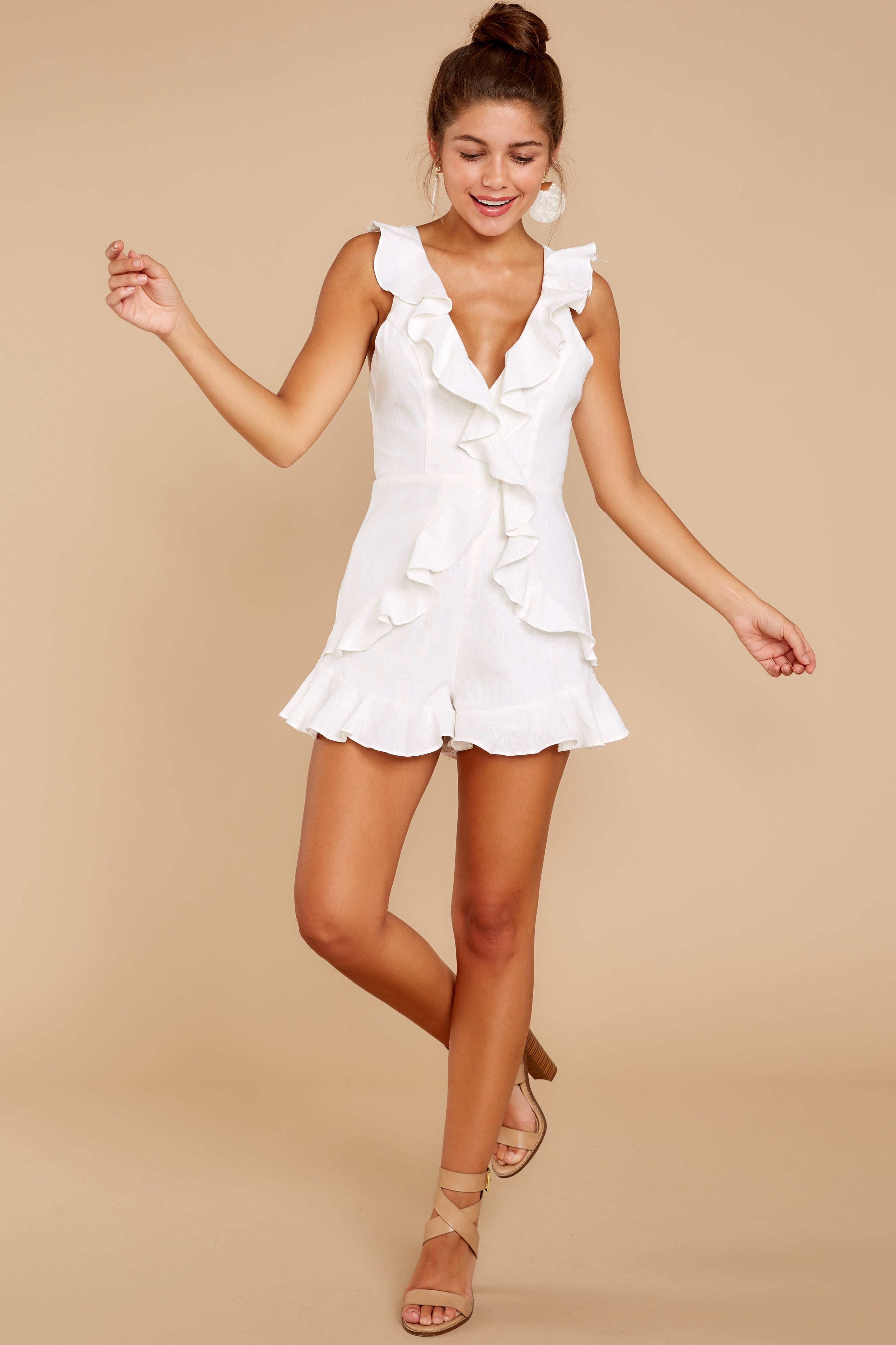 24a381dfee5 First Night In The City White Romper