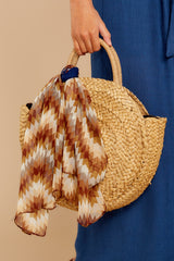 6 All Around It Tan Round Bag at reddressboutique.com