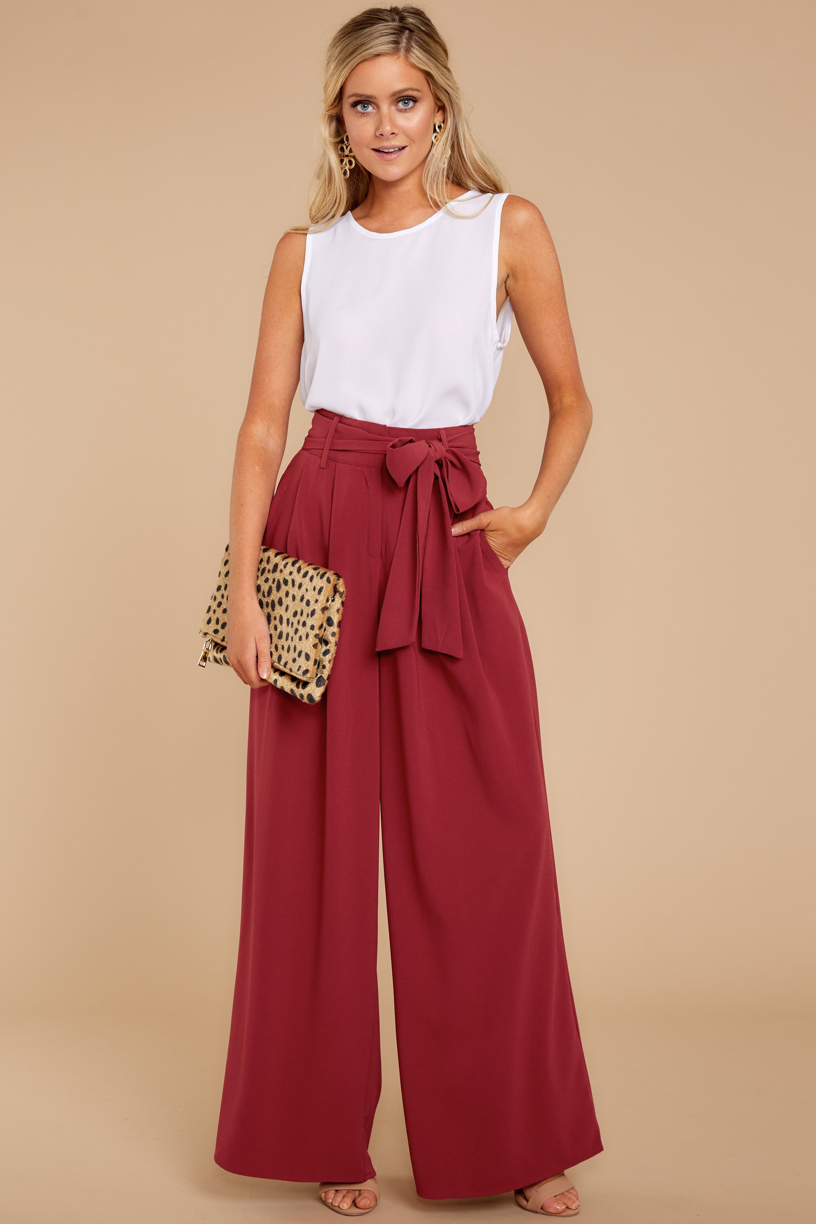 d63e2a3e3af8 Elegant Red Palazzo Pants - Trendy Wide Leg Pants - Pants - $42.00 ...