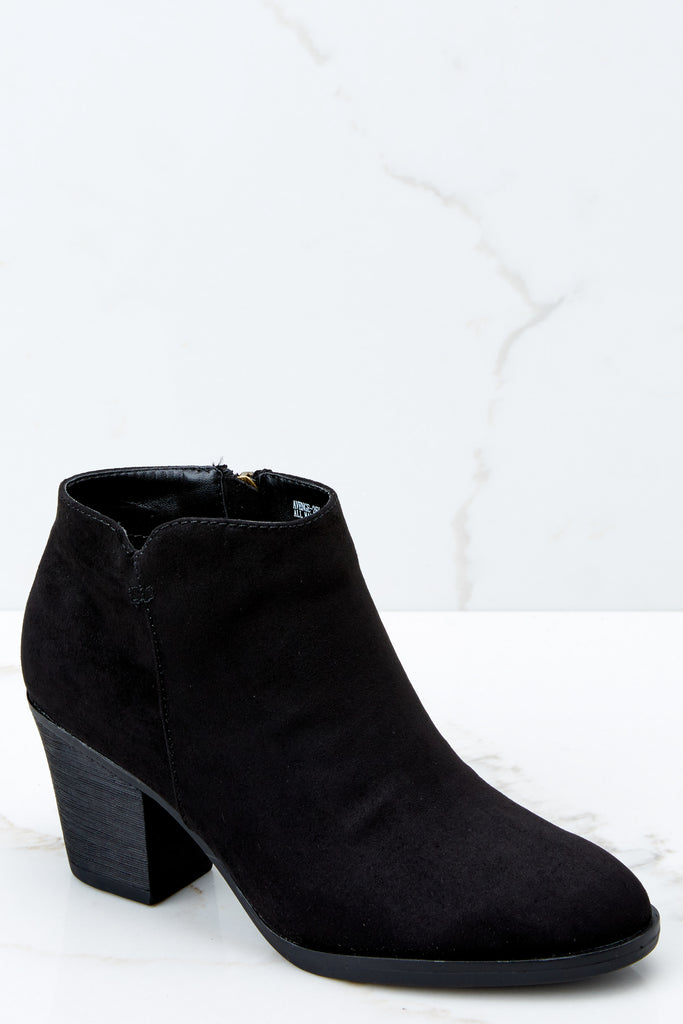 6 Rainmaker Black Boots at reddressboutique.com