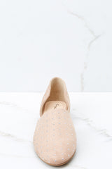 2 Star Studded Show Taupe Flats at reddressboutique.com