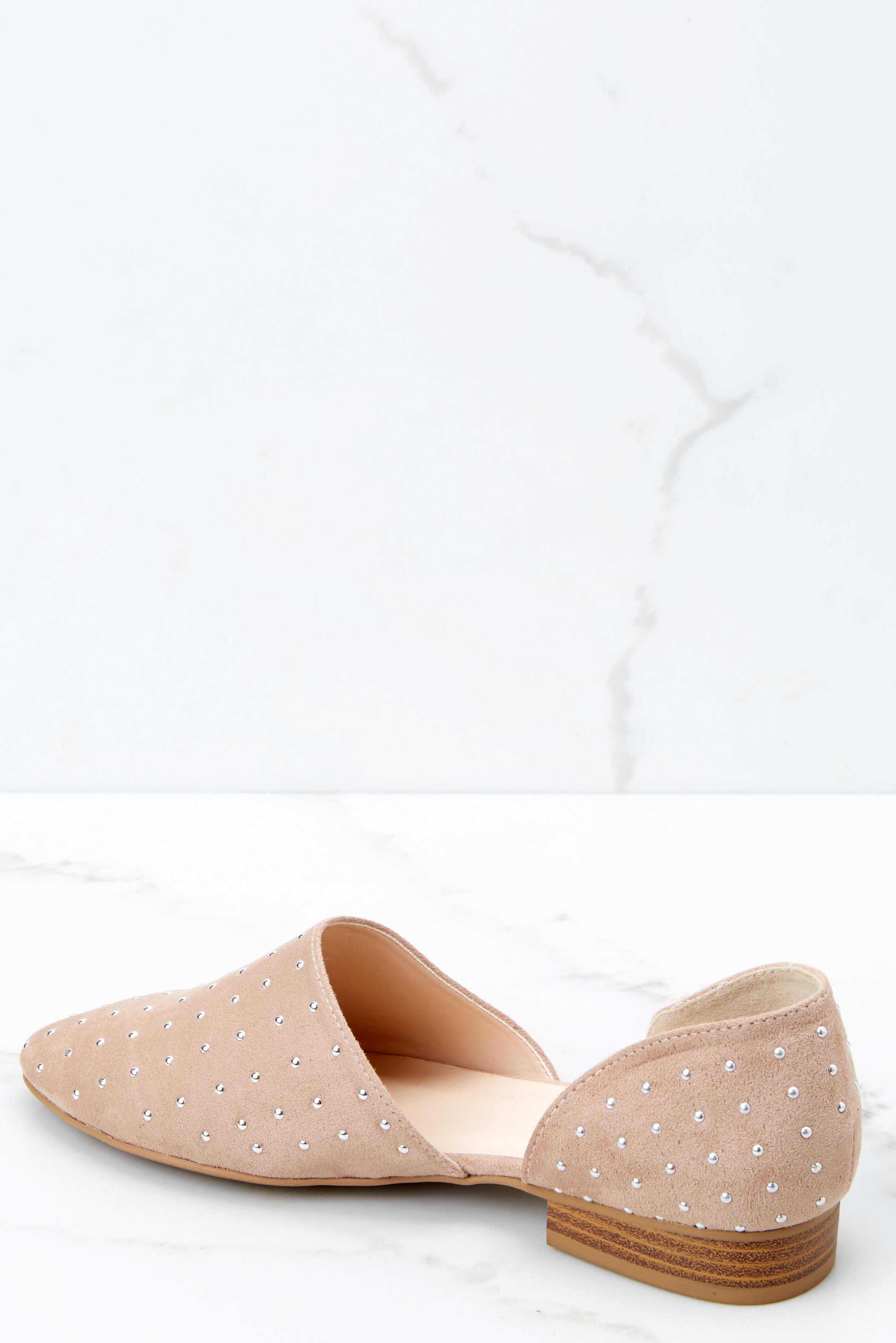 3 Star Studded Show Taupe Flats at reddressboutique.com