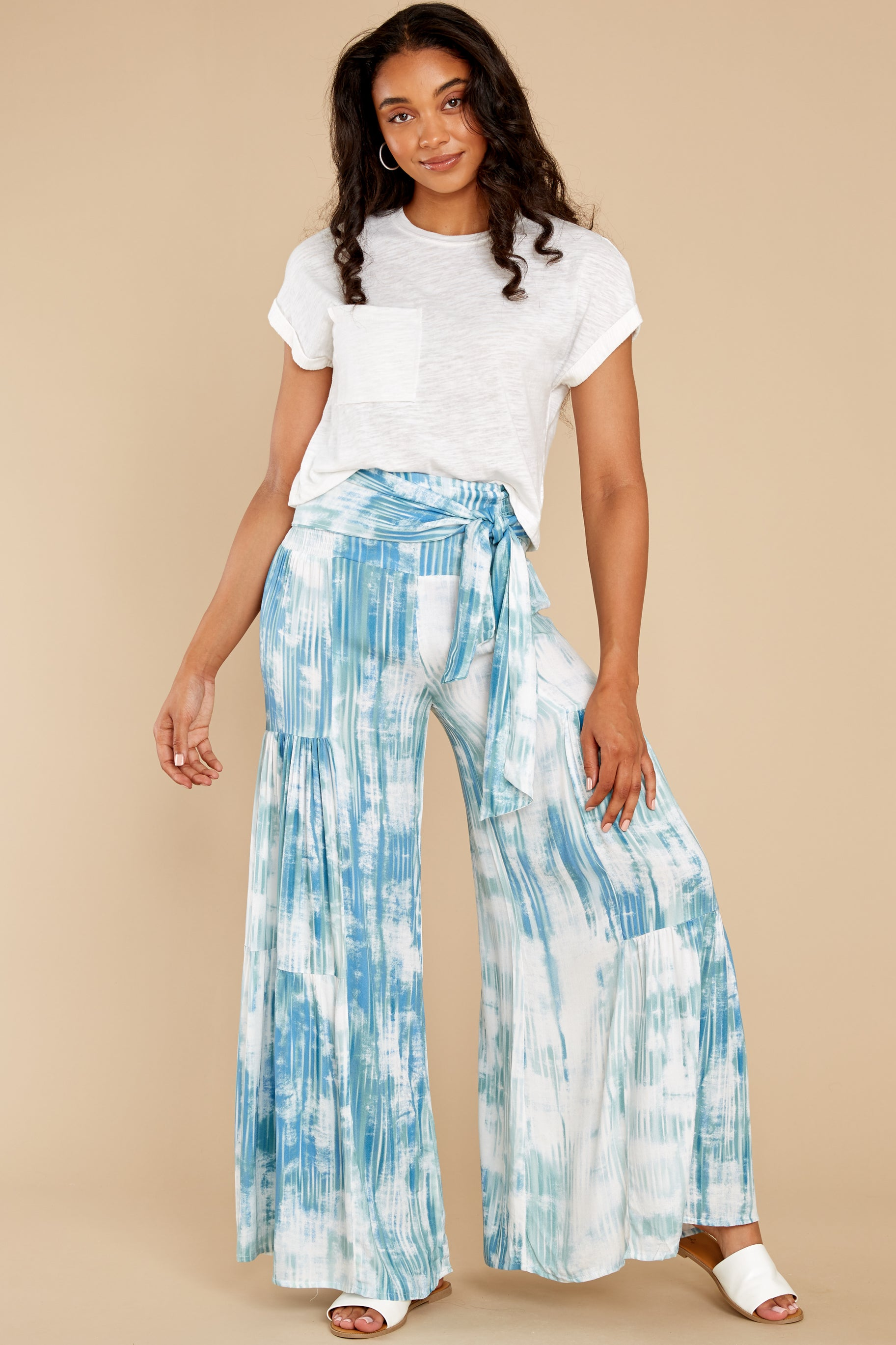 6 Magical Moment Blue Multi Tie Dye Pants at reddress.com