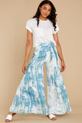7 Magical Moment Blue Multi Tie Dye Pants at reddress.com
