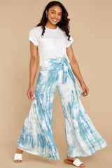 5 Magical Moment Blue Multi Tie Dye Pants at reddress.com