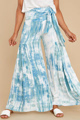 2 Magical Moment Blue Multi Tie Dye Pants at reddress.com