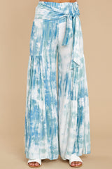 3 Magical Moment Blue Multi Tie Dye Pants at reddress.com