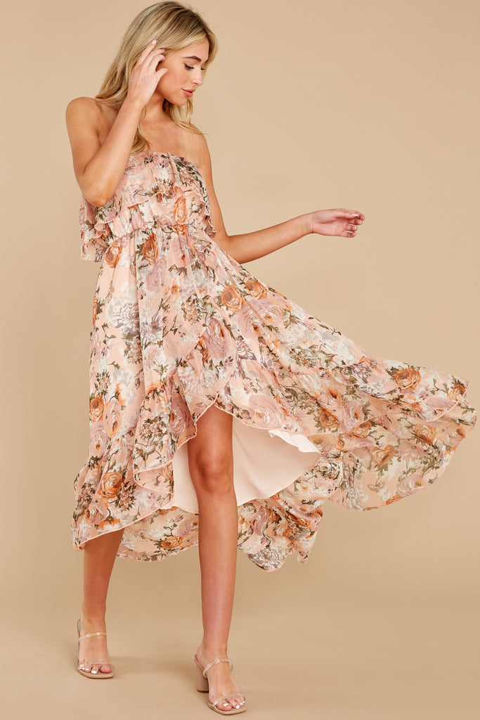 1 Tableside Cutie Dusty Pink Floral Print Maxi Dress at reddress.com