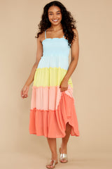 2 Endless Summer Bright Turquoise Multi Maxi Dress at reddress.com