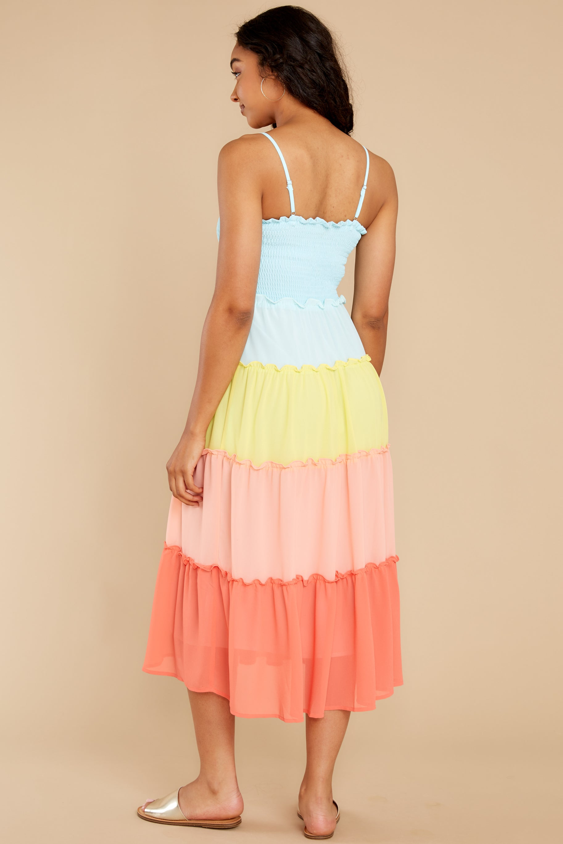 7 Endless Summer Bright Turquoise Multi Maxi Dress at reddress.com