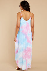 7 Part Of Your Charm Pink Multi Tie Dye Maxi Dress at reddress.com