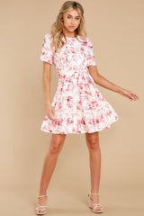 4 Curious Hearts Pink Floral Print Dress at reddress.com
