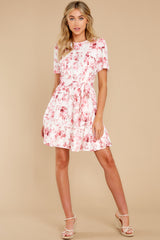 3 Curious Hearts Pink Floral Print Dress at reddress.com
