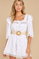 8 A Good Romance White Print Dress at reddress.com