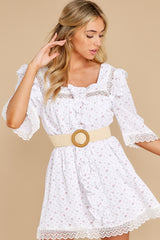 7 A Good Romance White Print Dress at reddress.com