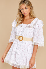 2 A Good Romance White Print Dress at reddress.com