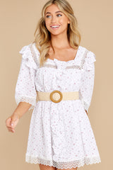 6 A Good Romance White Print Dress at reddress.com