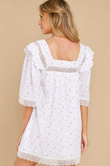 9 A Good Romance White Print Dress at reddress.com