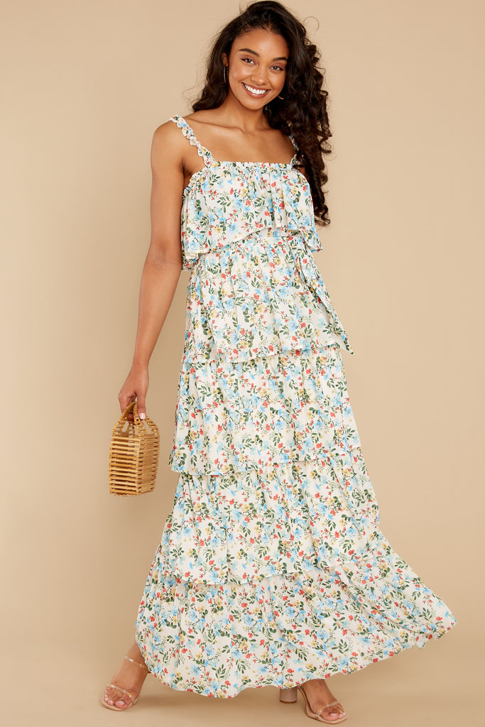 2 Know What I Want White Floral Print Maxi Dress at reddress.com