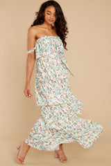 8 Magical Means Ivory Floral Print Maxi Dress at reddress.com