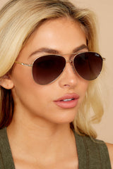 1 Still Standing Gold Smoke Taupe Sunglasses at reddressboutique.com