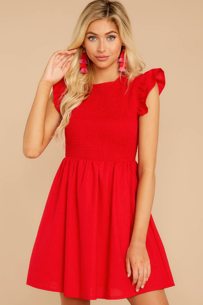 1 From Your Dreams Ruby Red Dress at reddressboutique.com