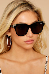 1 It's My Way Black Gold Smoke Sunglasses at reddress.com