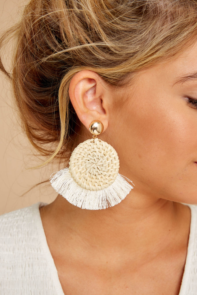 Brush With Fate Ivory Earrings
