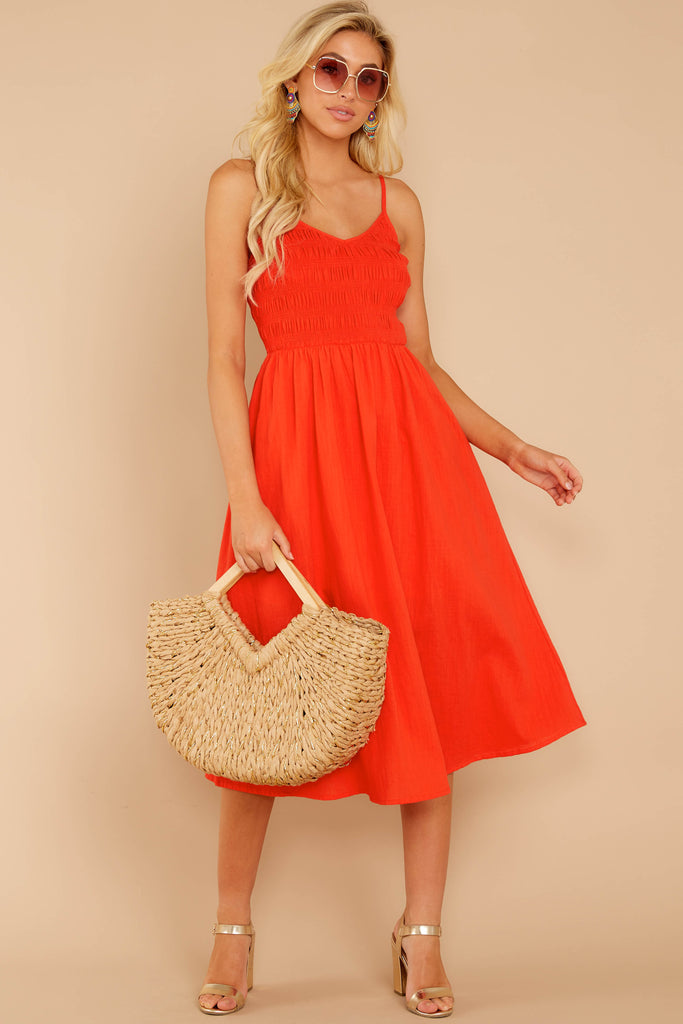 1 Encounter With Fate Bright Orange Maxi Dress at reddressboutique.com