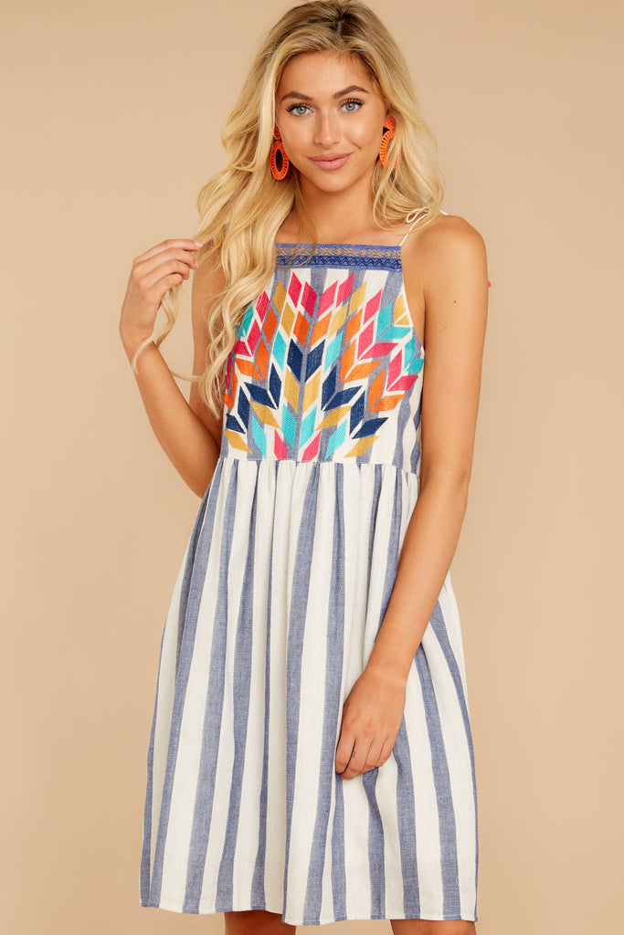 Let This Be Navy Stripe Dress