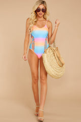 2 Beyond The Shore Pink Multi One Piece at reddressboutique.com