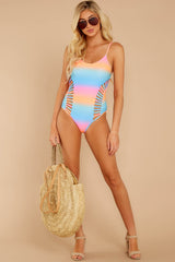 3 Beyond The Shore Pink Multi One Piece at reddressboutique.com