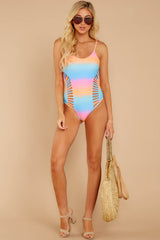 4 Beyond The Shore Pink Multi One Piece at reddressboutique.com