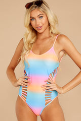 5 Beyond The Shore Pink Multi One Piece at reddressboutique.com