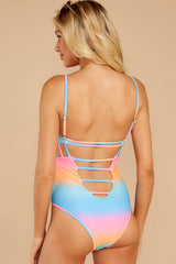 7 Beyond The Shore Pink Multi One Piece at reddressboutique.com