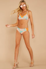 3 Reef Not Included Coral And Turquoise Bikini Bottoms at reddressboutique.com
