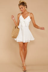 1 At The Oasis White Dress at reddressboutique.com