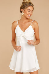 5 At The Oasis White Dress at reddressboutique.com