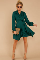 1 Scheduled Perfection Evergreen Wrap Dress at reddress.com